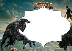 Download FREE Printable Black Panther Invitation Templates
