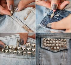 Preta Pretinha Blog: Customizando: Jaqueta Jeans