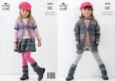 3424 | Knitting Pattern | V neck Cardigans