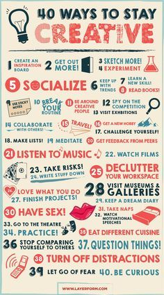 Forty Ways To Stay Creative  http://www.wellsome.com/wellsome/5-things-im-loving/  #wellsome #jemalee #wellness