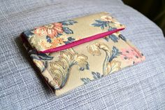 handmade briefcase (outside: gobelin tapestry, inside: fuchsia fabric)