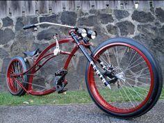"Loving this beauty ""Fluid"" from Firebikes Canada Cruiser Bicycle, Motorized Bicycle, Custom Beach Cruiser, Bike Rollers, E Biker, Lowrider Bicycle, E Skate, Push Bikes, Chopper Bike"