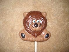 1 chocolate jungle safari animal lion cub elephant lollipops lollipop | sapphirechocolates - Edibles on ArtFire