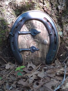 Horseshoe door for a fairy garden
