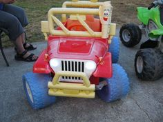 Modified Power Wheels - Adding Lights to the Jeep