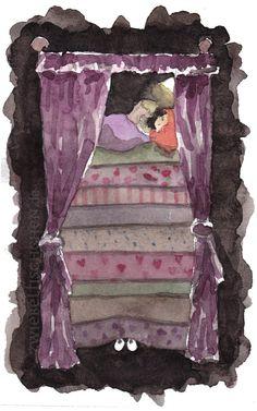 Abends, wenn Lilly ins Bett ging, versuchte sie sich mit Lesen davon abzulenken, dass unter ihrem Bett doch bestimmt ein furchtbares Wesen, mit großen leuchtenden Augen saß und nur darauf wartete sie anzuspringen