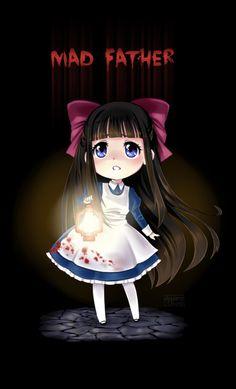 Aya (Mad Father) by AyameShiroi Rpg Maker, Baguio, Aya Mad Father, Father Games, Chibi, Creepy Games, Corpse Party, Satsuriku No Tenshi, Rpg Horror Games