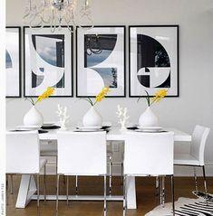 decoración de paredes del comedor con cuadros