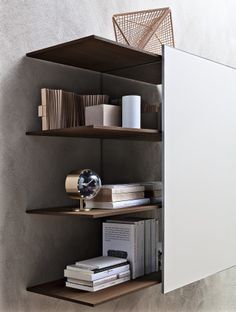 Sectional #storage wall PASS-WORD by MOLTENI & C. | #design Dante Bonuccelli
