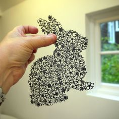 Rabbit Papercut Topiary by Suzy Taylor, via Flickr