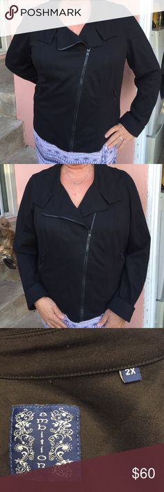 Women's Nordstrom's Black Casual Jacket Really hip and cute black jacket perfect over s pair of jeans to go out on the town. Worn three times, comes dry cleaned and ready to wear (it is washable but I am lazy). Maybe buy it with the cute jeans I have listed. ambition Jackets & Coats Utility Jackets