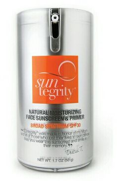 Suntegrity Natural Moisturizing Face Sunscreen & Primer, Broad Spectrum Spf 30- $45.00.