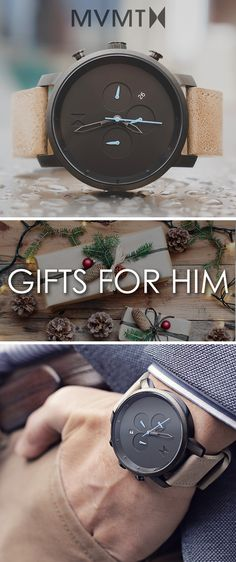 Get a gift for him this holiday season! Quality crafted minimalism meets elegant chic design. Born in Santa Monica, California, the MVMT Watches initiative is to design fashion-forward products, and offer them at a revolutionary price. Let this watch, or any of our other styles, complete your accessory collection. Compliments guaranteed.