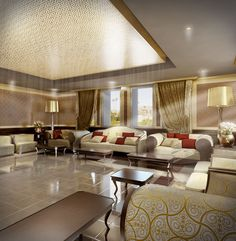 Arabic Majlis Designs | FlyingArchitecture visualizations » Saudi Arabia interior