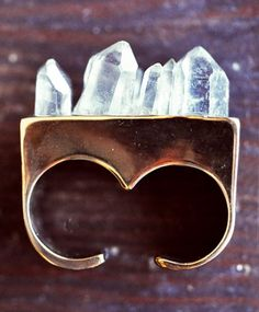 Double Finger Crystal Ring