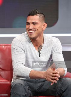UFC fighter Anthony Pettis attend 106 & Park on December 2014 in New York City. Ufc Fighters, Park Photos, December, Hairstyles, Stock Photos, York, City, Tattoos, Googly Eyes