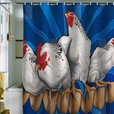 Cool! Love this (Santa are you watchin'?) Awesome Shower Curtain!