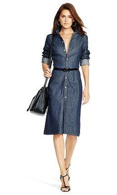Hemdkleid aus Denim - Polo Ralph Lauren Halblange Kleider - Ralph Lauren Deutschland