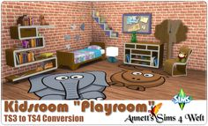 """Sims 4 CC's - The Best: TS3 to TS4 Conversion - Kidsroom """"Playroom"""" by Ann..."""