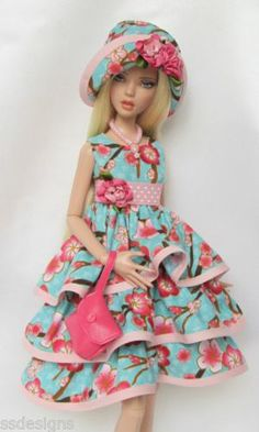"Penelope's Ruffle Icious for 16"" Tonner Deja Vu Made by Ssdesigns | eBay"