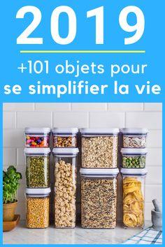 Simplifiez-vous la vie ! Découvrez les objets les plus malins qui vont vous rendre la vie plus facile en 2019. Kitchen Decor, Healthy Living, Sweet Home, Simple, Food, Organiser, Cleaning Checklist, Bons Plans, Motifs