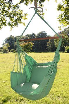 Groene NewLine Mono Color hangstoel met kussens