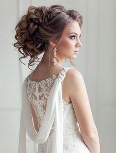 33 elegant wedding hairstyles for long hair hair dos bride h Messy Bun Hairstyles, Bride Hairstyles, Cool Hairstyles, Party Hairstyles, Bridesmaid Hairstyles, Beach Hairstyles, Men's Hairstyle, Beautiful Hairstyles, Medium Hairstyles