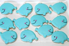 Whale cookies by The Pink Mixing Bowl!