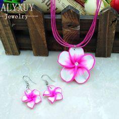 Children necklace earring flower jewelry