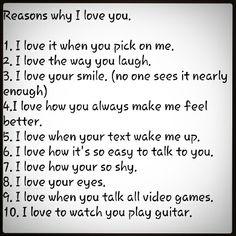 10 reasons why I love you.