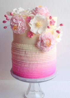 Butter Cream Ruffle Cake #wedding #cake