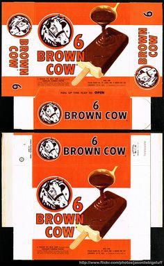 Polar Dairy - Brown Cow - frozen treart package box - Marathon printer sample - 1962