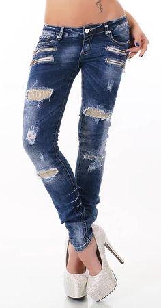 Moderní dámské džíny