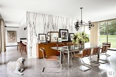 Inside GQ Design Director Fred Woodward's midcentury glass house in Upstate New York.