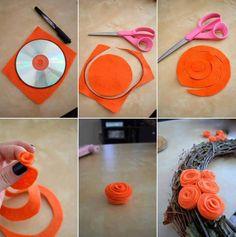 kağıttan çiçek yapımı - DEKORCENNETİ.COM