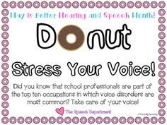 Looking for a way to spread awareness for BHSM in your school? Do it with donuts! Print this sign and grab a few boxes of munchkins or donuts for a cute way to kick off BHSM. Sign comes in two versions, as well as in both black and white and color!