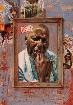 "SPA TOP40 2013 - Khaya Witbooi  //  ""My mirror, my wall""  /  Oil on Canvas  /  100x70cm"