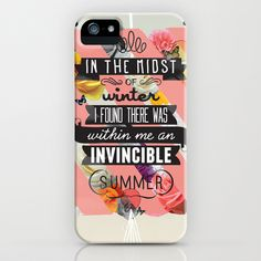 The+Invincible+Summer+iPhone+Case+by+Kavan+&+Co+-+$35.00