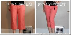 Projects Around the House: Turn a Flare Leg Into a Skinny Leg