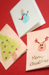 Activities: Fingerpaint Christmas Cards---This would be fun for those of you that have little one :}