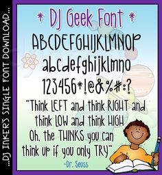 Our 'DJ Geek' font offers strong & simple lettering. with a playful personality. Use this versatile hand-written font to add a smile to any project. Cool Fonts, New Fonts, Dj Inkers, Simple Lettering, Print Fonts, Geek Stuff, Letters, Ads, Hand Written