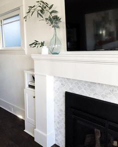 Most current No Cost Fireplace Tile wood mantle Ideas Enough time for anyone exp…, – farmhouse fireplace tile Fireplace Update, Farmhouse Fireplace, Fireplace Remodel, Fireplace Mantle, Fireplace Tile Surround, Fireplace Surrounds, Fireplace Design, Mosaic Tile Fireplace, Tile Around Fireplace