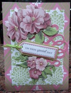 Wedding card using Anna Griffin products