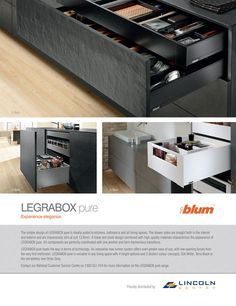 Blum LEGRABOX pure from Lincoln Sentry