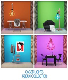 CAGED LIGHTS at THINGSBYDEAN via Sims 4 Updates
