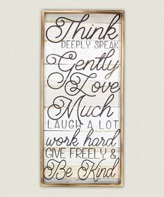 Love this 'Think Deeply' Wood Wall Sign on #zulily! #zulilyfinds