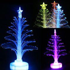 Nueva 12 cm Colorido LED de Fibra Óptica luz Nocturna Lámpara Luz de La Decoración Del Árbol de Navidad regalo de Navidad