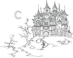 Houses to Color and Print for adults coloring page skeletons