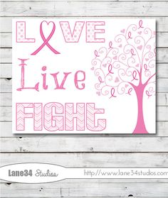 Breast Cancer Awareness Tree Love live fight  Art by Lane34Party, $12.00