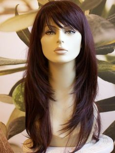 Haircuts For Long Hair With Layers, Long Layered Haircuts, Long Hair Short Layers, Layered Hair With Bangs, Long Hairstyles With Bangs, Women Haircuts Long, Layered Hairstyle, Medium Length Hair Cuts With Bangs, Long Layered Hair With Side Bangs